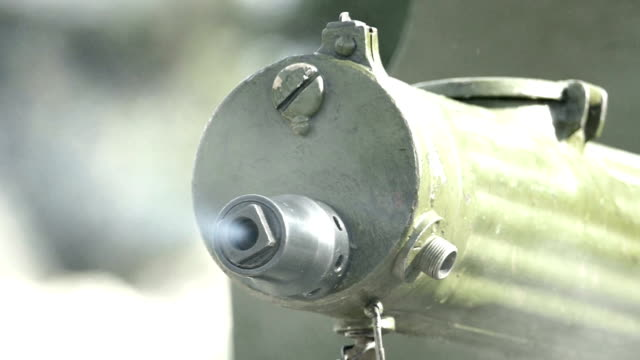 shooting from the machine gun of world war ii (slow motion) - machine gun stock videos & royalty-free footage