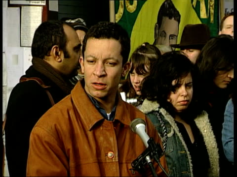 shooting of jean charles de menezes/ vigil at stockwell tube station alex alves pereira speaking to press sot he was a person who worried about... - stockwell stock videos and b-roll footage