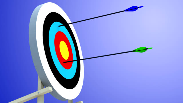 shooting range: arrows hitting the target - archer stock videos and b-roll footage