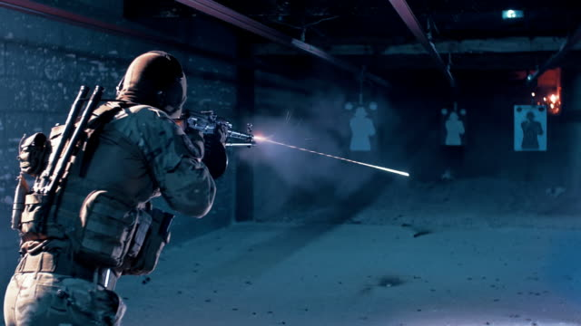 shooting range training - toy stock videos & royalty-free footage