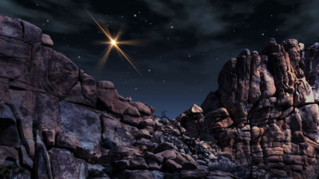 a shooting star across a night sky in joshua tree. - digital enhancement stock videos and b-roll footage