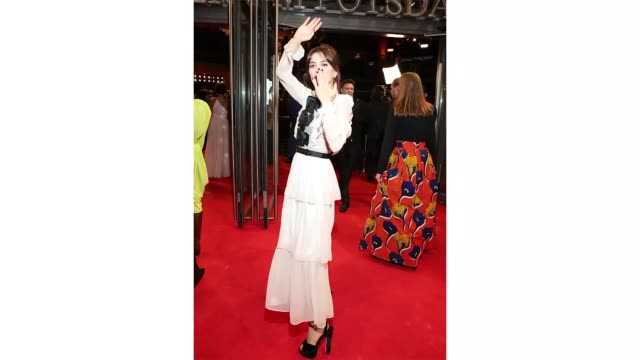 berlin germany february 24 'shooting star' joana ribeiro on the red carpet for the european shooting stars 2020 as part of the 70th berlinale... - gif stock videos & royalty-free footage