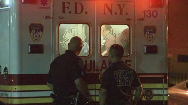 WPIX Shooting Victim Being Put In Ambulance on June 10 2013 in Queens New York