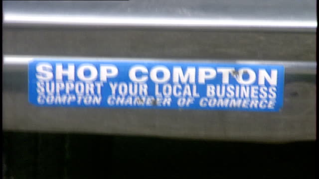 cu shop compton bumper sticker - sticker stock videos and b-roll footage