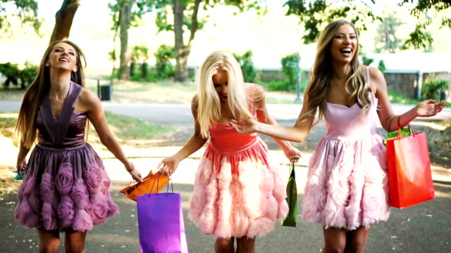 shopaholic friends - stereotypically upper class stock videos & royalty-free footage