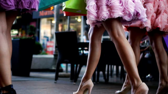shopaholic friends - human leg stock videos & royalty-free footage