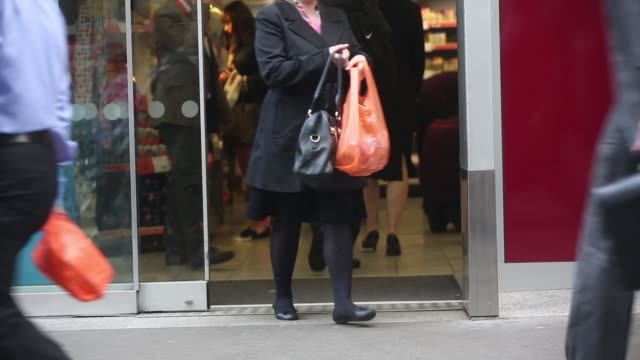 Pers Are Seen Entering And Exiting With Carrier Bags A Sainsbury S Local Supermarket Operated By