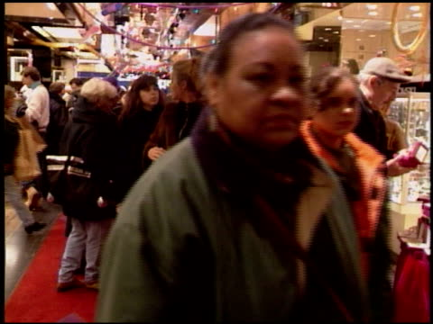 Shoppers at Macys During Holiday Season at Macy's Herald Square on December 25 1995 in New York New York