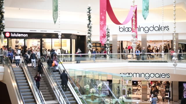 shoppers at the garden state mall and short hills mall on black friday in new jersey us on friday nov 29 2019 - bloomingdales stock videos & royalty-free footage