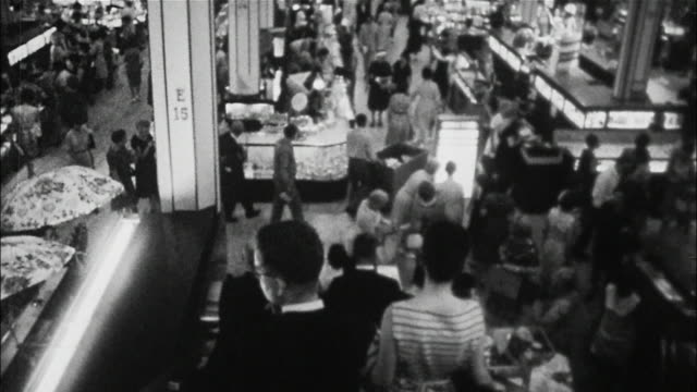 shoppers crowd macy's department store in new york city. - department store stock videos & royalty-free footage