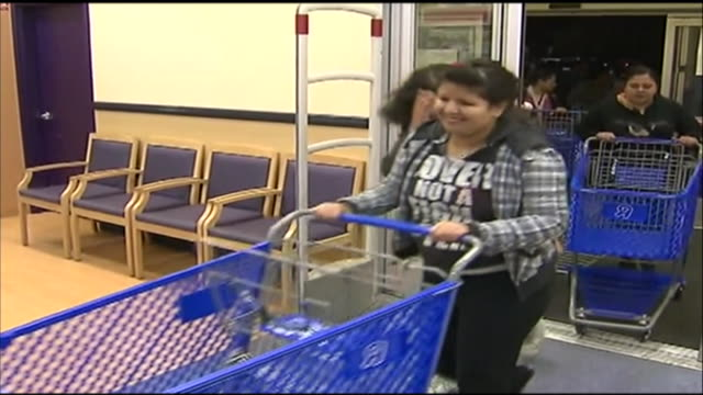 shoppers enter a toys r us in glendale, california during black friday. - toys r us stock videos & royalty-free footage