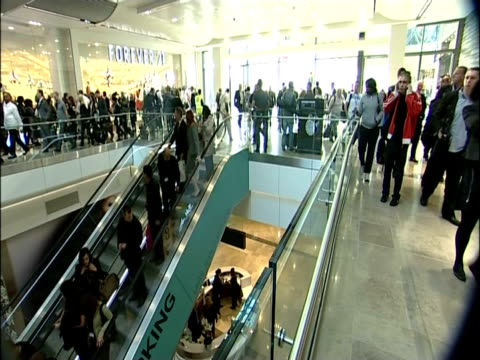 Shoppers flood into the newly opened Westfield shopping centre in East London