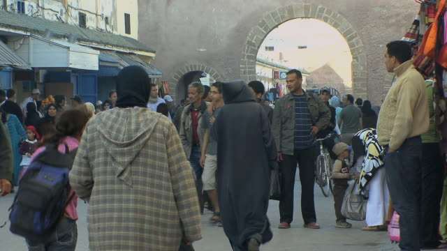 ms shoppers in medina, essaouira, morocco - old town stock videos & royalty-free footage