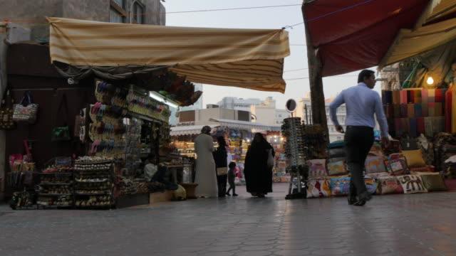 Shoppers in the Old Souk, Bur Dubai, Dubai, United Arab Emirates, Middle East, Asia