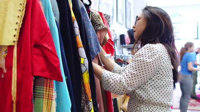 Shoppers in Vintage Fashion Store