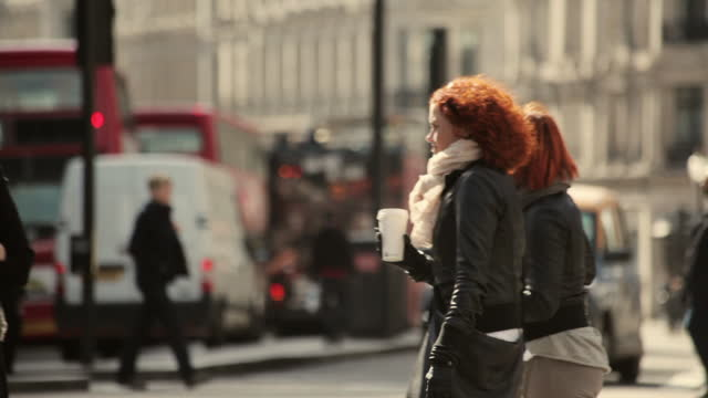 shoppers near oxford circus, london - road stock videos & royalty-free footage