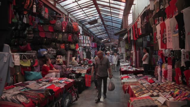 shoppers walk through a market in xi'an, china. - souvenir stock videos and b-roll footage