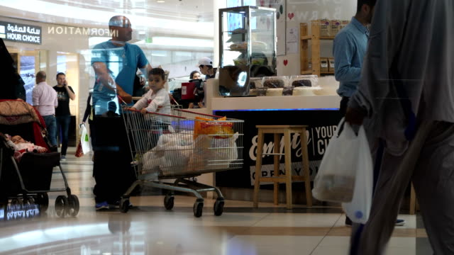 Shopping and city life in the City Center Mall in Doha Qatar 4K resolution