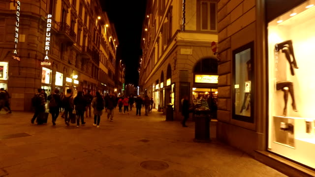 shopping area in florence - window display stock videos and b-roll footage