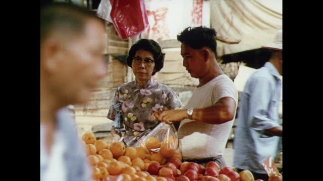 montage shopping at the outdoor market in kuala lumpar / malaysia - kuala lumpur stock videos & royalty-free footage