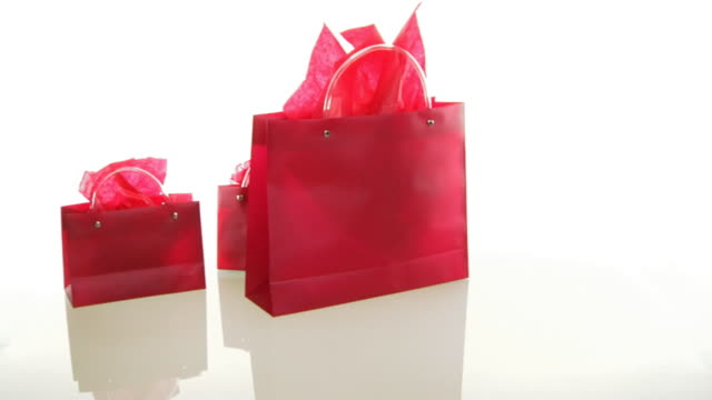shopping bags .. - shopping bag stock videos & royalty-free footage