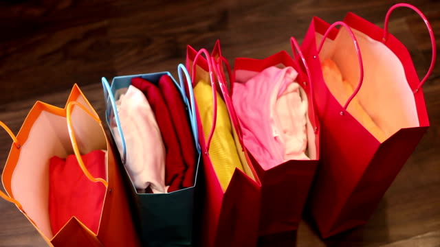 shopping bags - shopping bag stock videos & royalty-free footage
