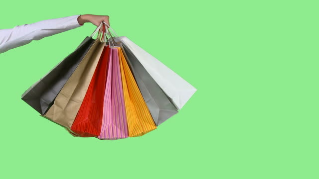 hd: shopping bags - spending money stock videos & royalty-free footage