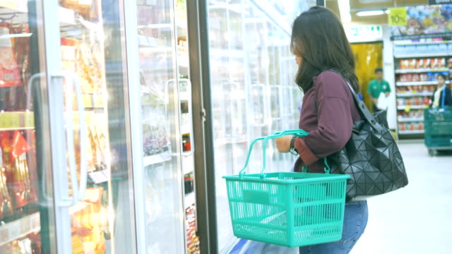 shopping basket : groceries - shopping basket stock videos and b-roll footage