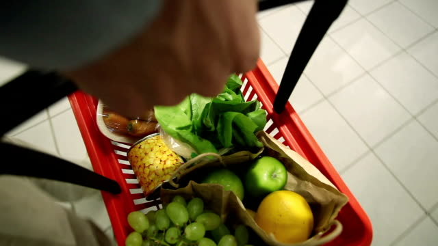 shopping basket - shopping basket stock videos and b-roll footage