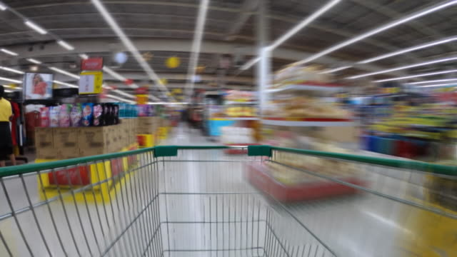 shopping cart hyper lapse - food and drink stock videos & royalty-free footage