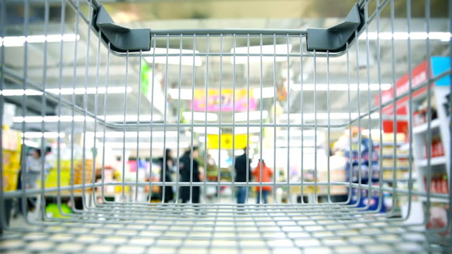 Shopping cart in supermaket