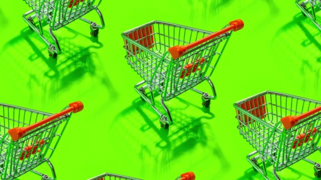 shopping cart pattern - silhouette stock videos & royalty-free footage