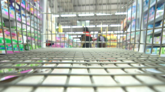 shopping cart time lapse - movimento rapido video stock e b–roll