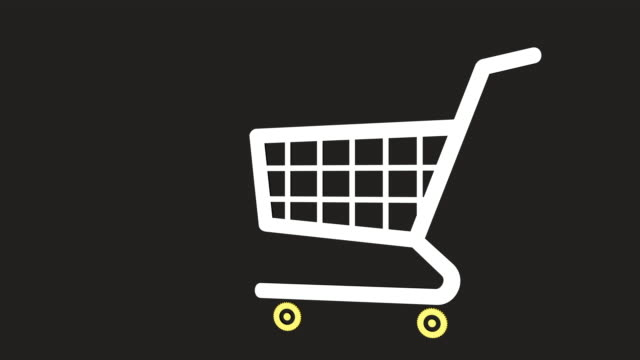 shopping cart - 3d animation stock videos & royalty-free footage