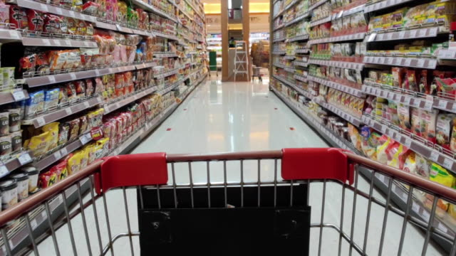 shopping cart - market retail space stock videos & royalty-free footage