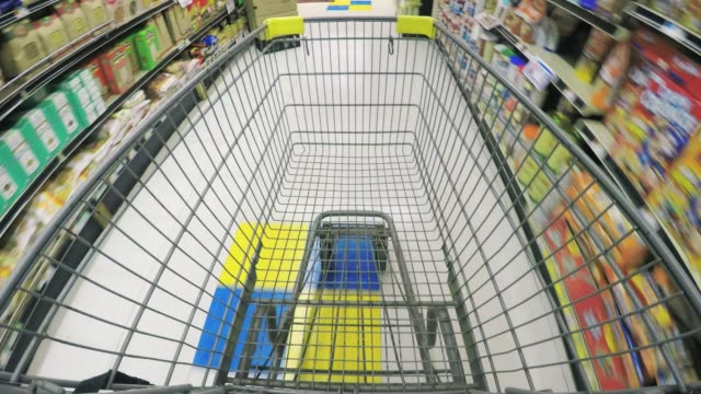shopping cart - pov - shelf stock videos and b-roll footage