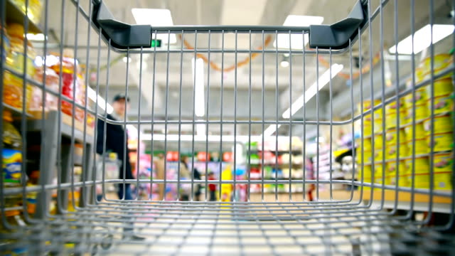 shopping cart - food and drink stock videos & royalty-free footage