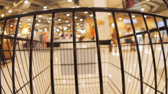 shopping cart view of grocery time lapse - obscured face stock videos & royalty-free footage