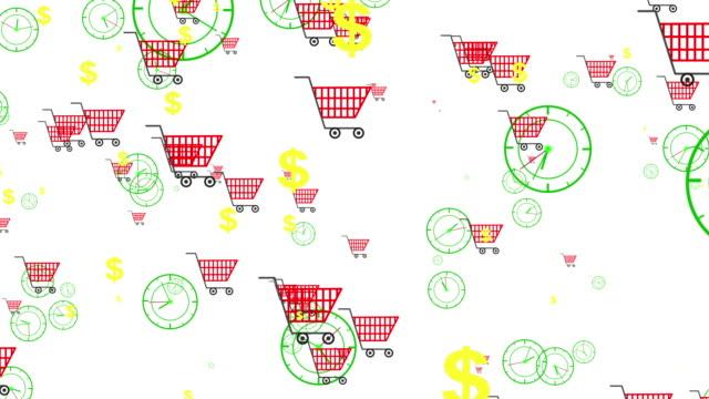 Shopping koncept animation för bakgrund, Loopable