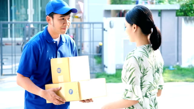 Shopping Delivery:Delivery man.