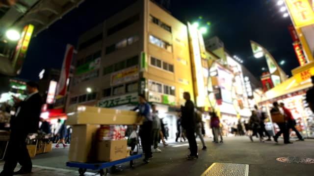 Shopping district at Ueno Tokyo Japan