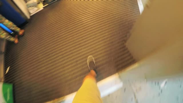 shopping entrance - pov - aisle stock videos and b-roll footage
