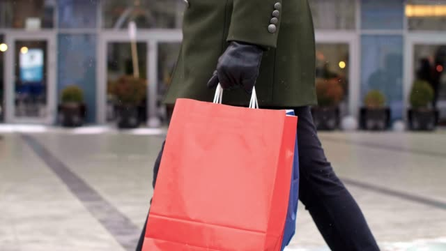 shopping footage - shopping bag stock videos & royalty-free footage