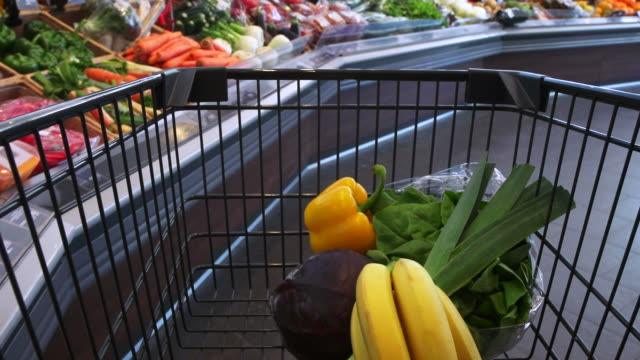 POV Shopping For Healthy Food In Supermarket
