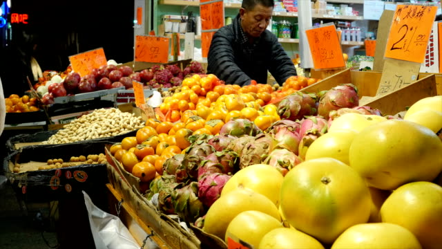Shopping fruits at China Town