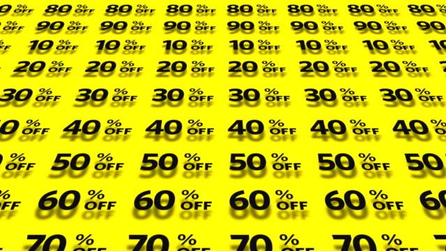 ショッピングのアイコンを設定します。 - パーセント記号点の映像素材/bロール