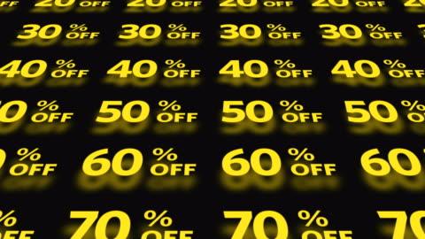 vídeos y material grabado en eventos de stock de conjunto de iconos de compras - rebajas