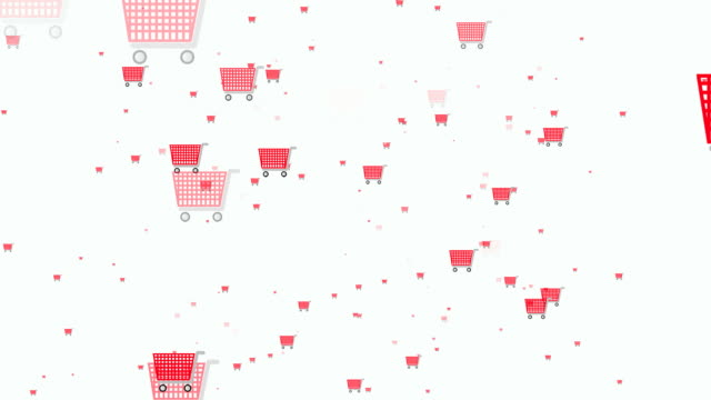 shopping icons - shopping trolley stock videos & royalty-free footage