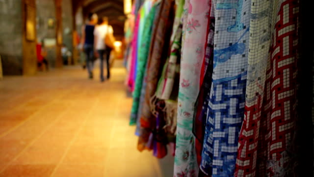 shopping in historical a turkish bazaar - grand bazaar istanbul stock videos and b-roll footage