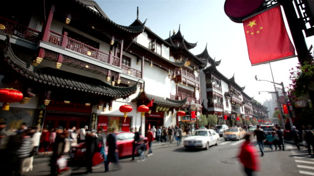 shopping in shanghai, china - chinese culture stock videos & royalty-free footage